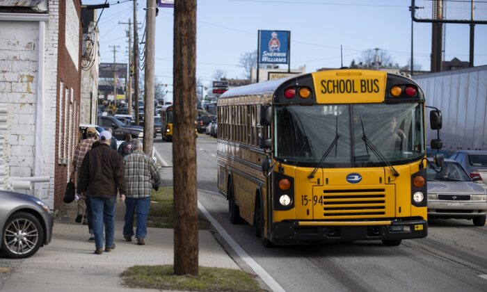 A school bus in Cookeville, Tenn., on March 4, 2020. (Brett Carlsen/Getty Images)