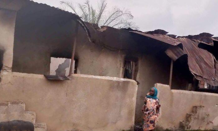 A burned house in the Muslim community of Zangon Kataf on Aug. 7, 2021. (courtesy Nura Bako Zango)