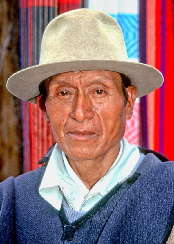 MAN AT OTAVALO MARKET