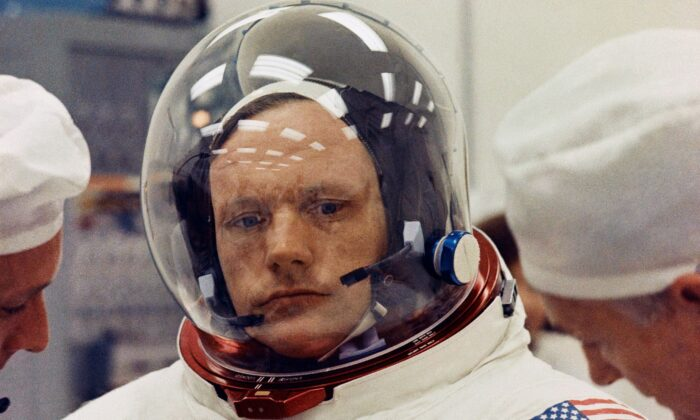 Astronaut Neil Armstrong in a space suit in 1969. (AP Photo)