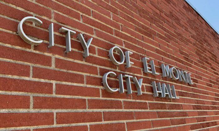 El Monte City Hall in El Monte, Calif., on Aug. 13, 2021. (Sarah Le/The Epoch Times)