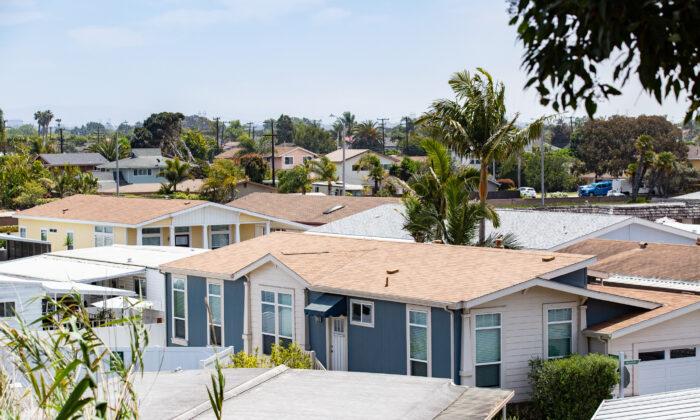 A neighborhood in Huntington Beach, Calif., on May. 5, 2021. (John Fredricks/The Epoch Times)