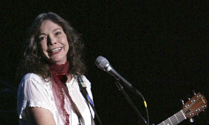 Nanci Griffith performs during a concert in New York, on Oct. 4, 2004. (Julie Jacobson/AP Photo)