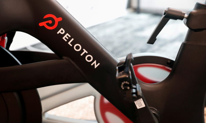 A Peloton exercise bike is seen after the ringing of the opening bell for the company's IPO at the Nasdaq Market site in New York City, New York, United States, on Sept. 26, 2019. (Shannon Stapleton/Reuters)