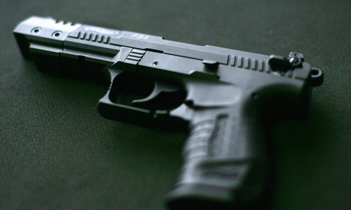 A Walther P22 pistol in Centerville, Va., on April 17, 2007. (Tim Sloan/AFP via Getty Images)