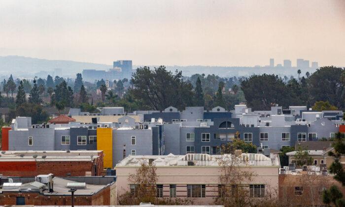 Apartments in Santa Ana, Calif., on Feb. 10, 2021. (John Fredricks/The Epoch Times)