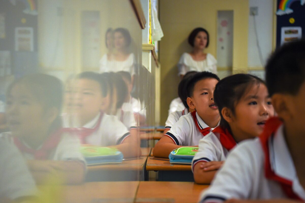 CHINA-EDUCATION-SCHOOL-CHILDREN