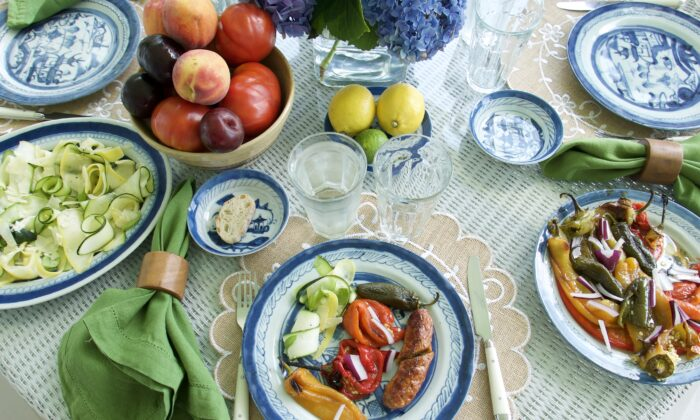 Round out these farm-fresh salads with spicy sausages, prepared however you like. (Victoria de la Maza)