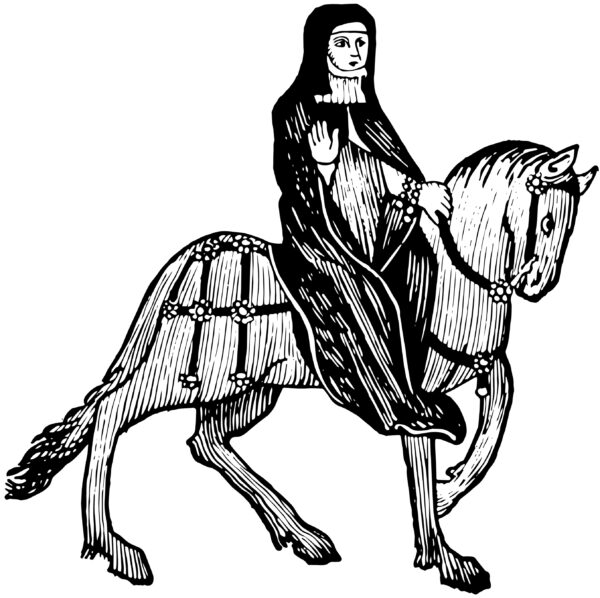 The,Prioress,From,Chaucer's,Canterbury,Tales,,This,Picture,Shows,The