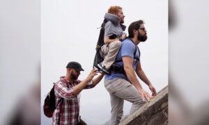 Friends Carry Teammate With Disability in Adapted 'Backpack' on Adventures Around the World
