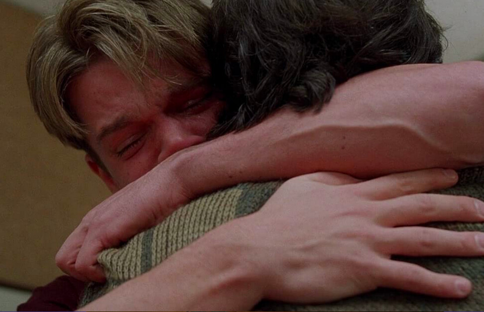 two men hug in Good Will Hunting