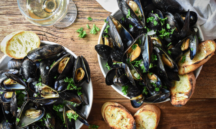Serve these mussels immediately, with plenty of bread for dipping and the wine left in the bottle for sipping. (Audrey Le Goff)