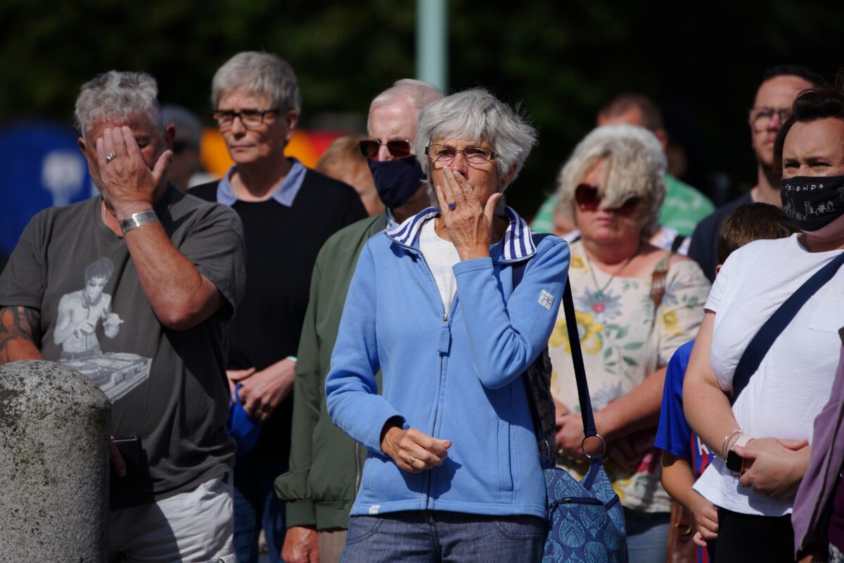 Hundreds gather to mourn victims of Plymouth shooting