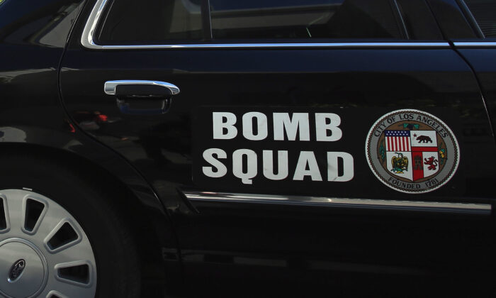 In this file photo, a bomb squad car is seen in Los Angeles on April 16, 2013. (Jeff Gross/Getty Images)