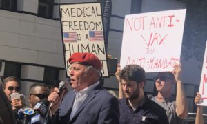 Giuliani's Son and Candidate Sliwa Speak as Hundreds Gather to Protest Vaccine Mandate in NYC