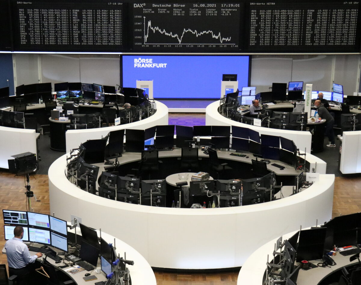 DAX graph at stock exchange
