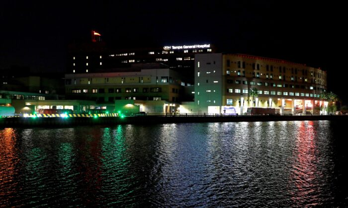 A view of Tampa General Hospital in Tampa, Florida, on April 16, 2020. (Mike Ehrmann/Getty Images)
