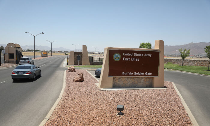 An entrance to Fort Bliss in Texas on June 25, 2018. (Joe Raedle/Getty Images)