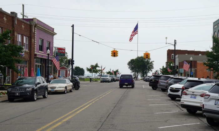 A street in New Baltimore, Mich., on Aug. 13, 2021. (Steven Kovac/Epoch Times)