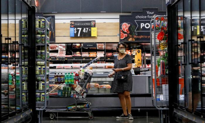 A shopper at a Walmart store in Bradford, Penn., on July 20, 2020. (Brendan McDermid/File Photo/Reuters)