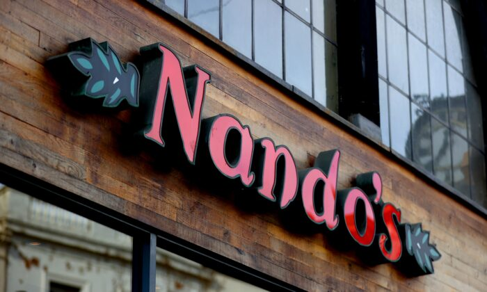 A Nando's restaurant in Nottingham, UK, on May 26, 2020. (Tim Goode/PA)