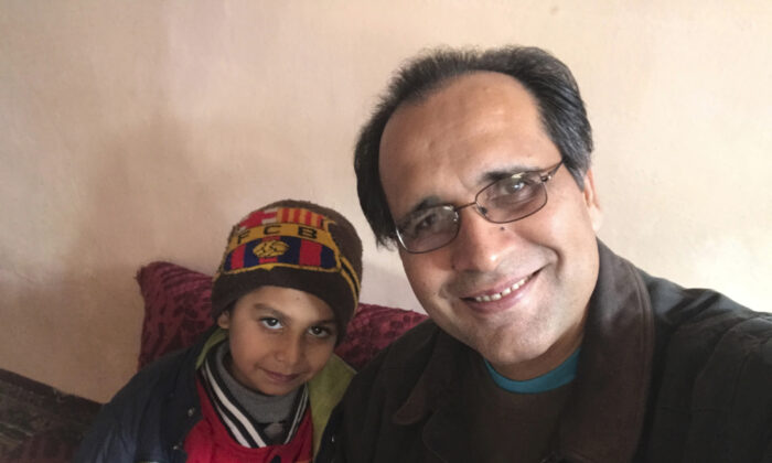 Noman Mujtaba (L) and Bahaudin Mujtaba in Kabul, Afghanistan, on Dec. 21, 2017. (Courtesy of Bahaudin Mujtaba via AP)