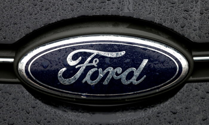 The Ford logo is pictured at the Ford Motor Co plant in Genk, Belgium, on Dec. 17, 2014. (Francois Lenoir/Reuters)