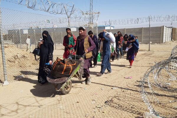 Afghan nationals cross the border