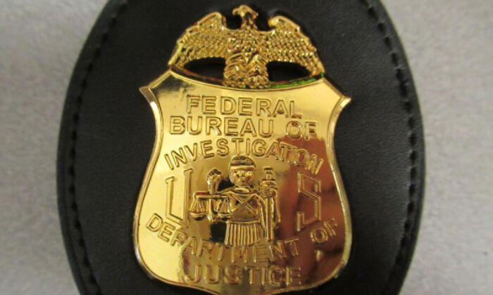 """U.S. border officers seized a """"very realistic"""" fake FBI badge arriving from China at the Chicago International Mail Branch in mid-August 2021. (U.S. Customs And Border Protection)"""