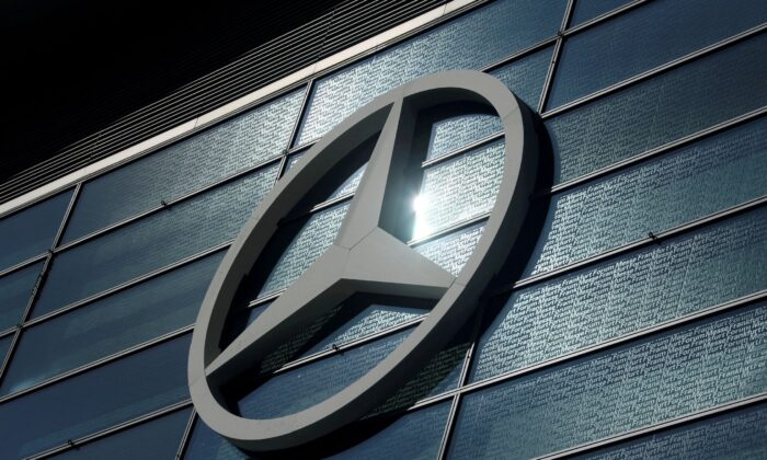 The Mercedes-Benz logo is pictured at the 2019 Frankfurt Motor Show (IAA) in Frankfurt, Germany, on Sept. 10, 2019. (Ralph Orlowski/File Photo/Reuters)
