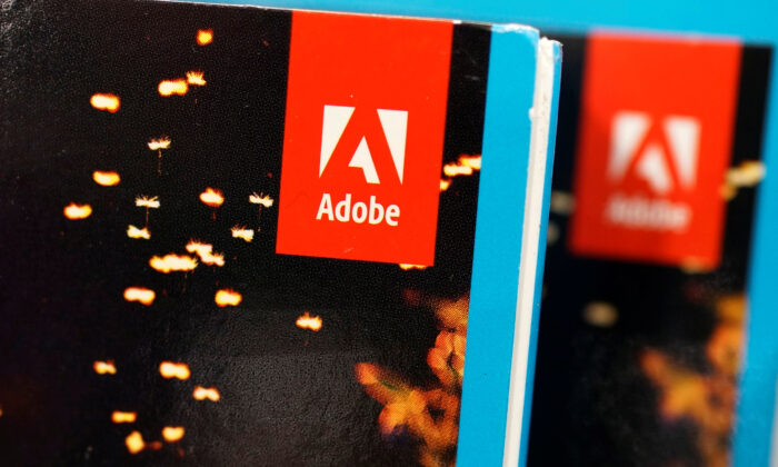 An Adobe Systems Inc software box is seen in Los Angeles, Calif., on March 13, 2017. (Lucy Nicholson/Reuters)