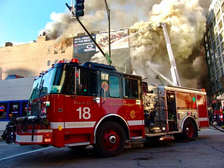 Firetruck on the job in BACKDRAFT