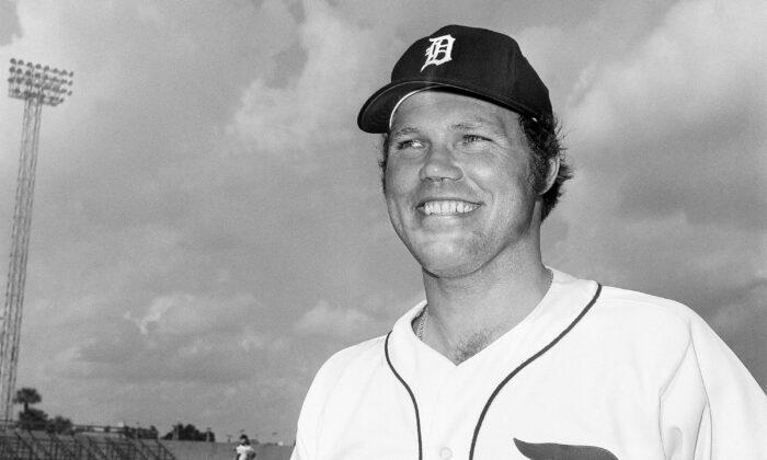 Detroit Tigers catcher Bill Freehan is shown on Feb. 24, 1975. (Preston Stroup, File/AP Photo)