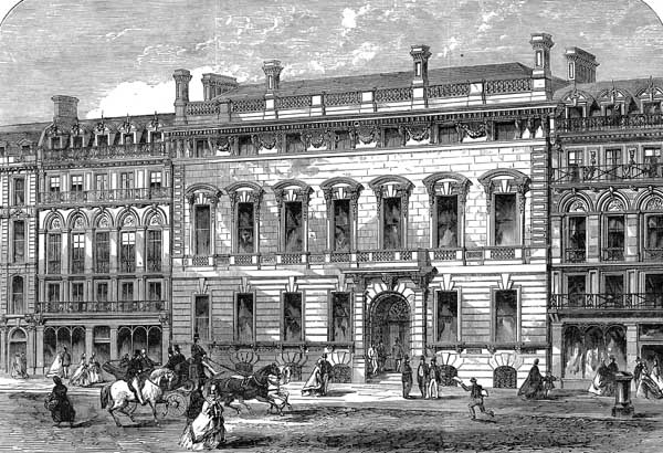 The Garrick Club in King Street, London. as pictured in the Illustrated London News, 1864. (Public Domain)