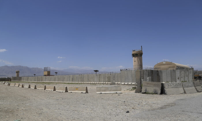 A view of Bagram Air Base after all U.S. and NATO troops left, some 43 miles north of Kabul, Afghanistan, on July 2, 2021. (Zakeria Hashimi/AFP via Getty Images)