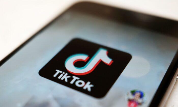 The TikTok logo on a smartphone in Tokyo,  Japan, on Sept. 28, 2020. (Kiichiro Sato/AP Photo)