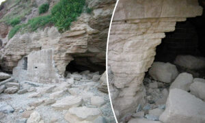 Archaeologist Discovers Previously Unrecorded WWII Bunker at Base of Cliffs at Saunton Sands in UK