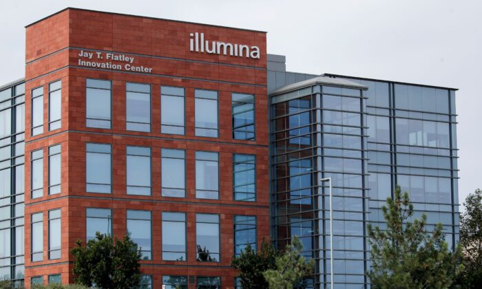 One of the office complexes of Illumina, Inc is shown in San Diego, Calif., on Oct. 9, 2020. (Mike Blake/Reuters)