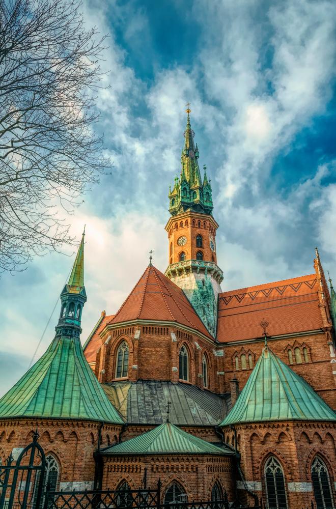 Krakow,/,Poland,-,November,30,2019:,Old,Gothic,Church