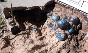 Michigan Man Finds 158 Bowling Balls Under His Concrete Steps During Summer Reno Project