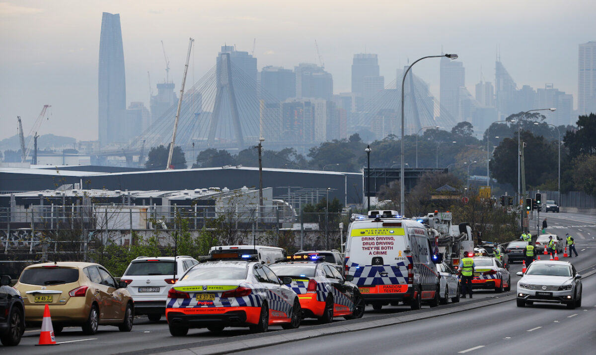 Increased Police Presence Across Sydney Ahead Of Planned Anti-Lockdown Protests