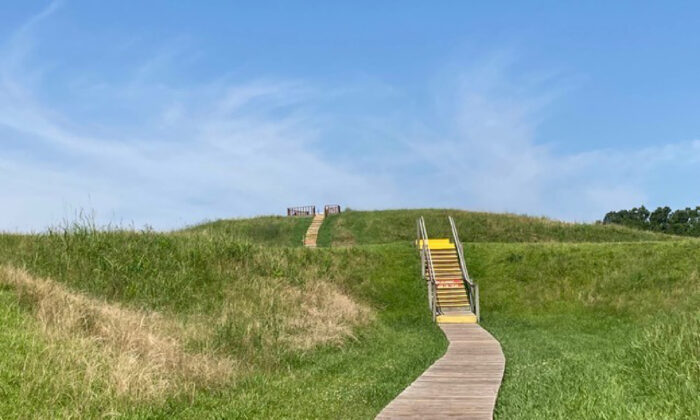 Mound A at Louisiana's Poverty Point State Park is one reason this area has been designated a World Heritage Site and listed on the National Register of Historic Places. (Bill Neely)