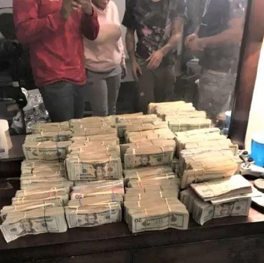Bales of money