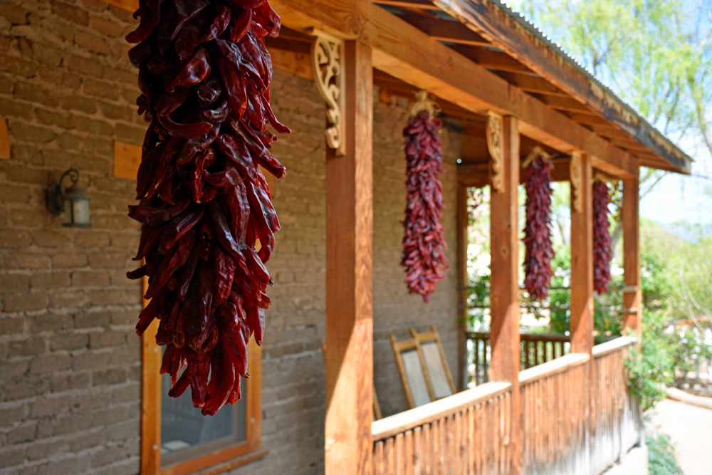 Traditional,Outdoor,New,Mexico,Ristra's