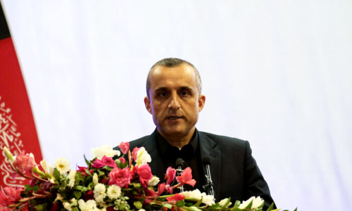 Then-vice-presidential candidate Amrullah Saleh speaks during the presidential election campaign in Kabul, Afghanistan, on Sept. 13, 2019. (Omar Sobhani/Reuters)