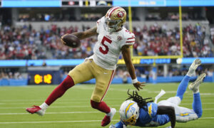 Lance Throws 2 Touchdown Passes as 49ers Rally to Beat Chargers