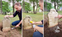 VIDEO: Man Spends Spare Time Restoring Grime-Covered Gravestones in Michigan Cemeteries