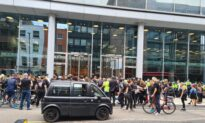 Demonstrators Occupy London News Headquarters Over Pandemic Coverage