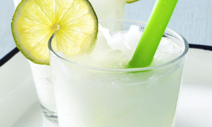 The sugar in the limeade prevents it from freezing completely. (Ashley Moore)