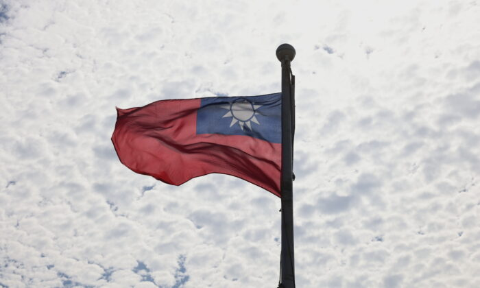 A Taiwanese flag flaps in the wind in Taoyuan, Taiwan, June 30, 2021. (Reuters/Ann Wang)